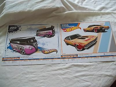 Hot Wheels Products Posters 2014 2 of 4 & 7 K-Mart Day E-Sheets (Info) Posters
