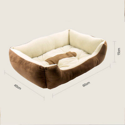 Warm Soft Indoor Small Puppy Pets Dog Cat Bed House Basket Nest Mat Waterproof
