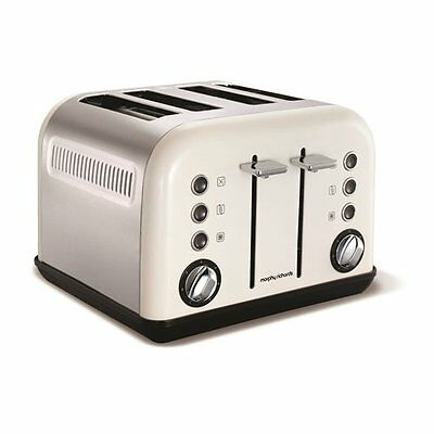 Morphy Richards 242005 Accents Toaster, 1800 Watt, White