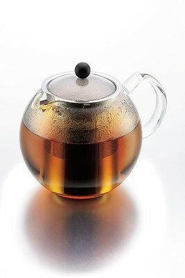 Bodum Assam Glass Tea Press, Stainless Steel Filter 1lt