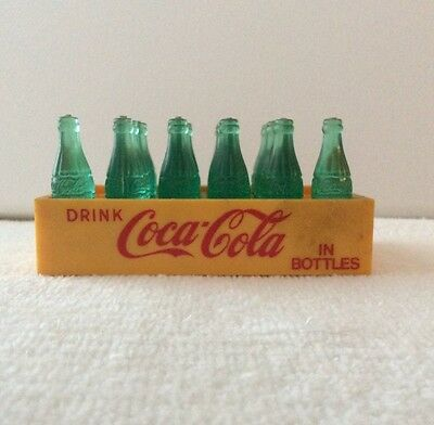 Vtg Minature Coca-Cola Plastic Case & Bottles