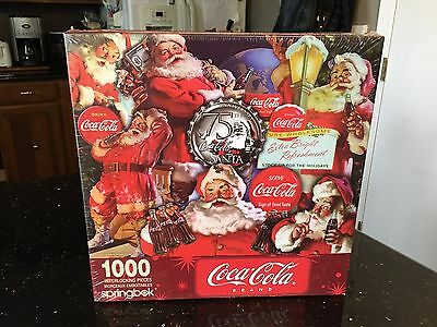 NEW! Coca-Cola Brand 1000 Interlocking Pieces Springbox 75Th Coca-Cola Santa