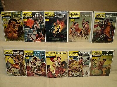 Classics Illustrated 111-120 SET Original 1st Editions! Comics (s 8310)