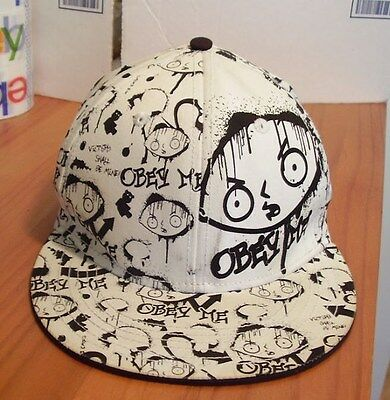 Vintage Family Guy Hat Stewie Obey Me Victory Shall Be Mine 2009 TV Fox Ball Cap