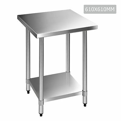 Stainless Steel Kitchen Food Prep Table Work bench 61cm x 61cm