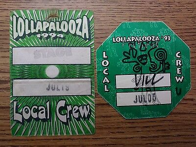 Lollapalooza backstage passes 1993 & 1994 Alice In Chains Smashing Pumpkins IN