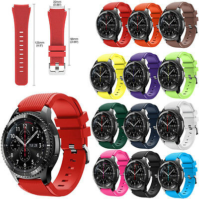 Sport Rubber Silicone Watch Band Strap For Samsung Gear S3 Frontier Classic 22mm