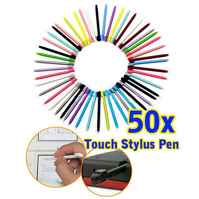 50x Color 2 in 1 Touch Screen Stylus Pen fr Nitendo DS Lite NDSL NDS NDSI XL 3DS