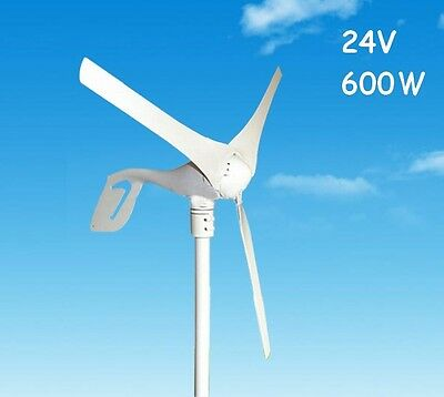 3 Blades 600W 24V DC Wind Turbine Generator System Home Use Street Light