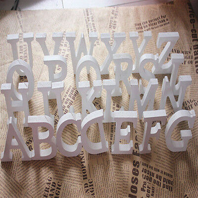 3D Personalised White Wooden Name Plaque Word Letters Wall Art Craft Sign Design