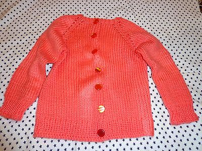 beautiful hand made peach color sweater size 4T for girls.