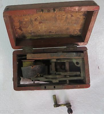 Antique Improve Patent Magneto-Electric Machine for Nervous Diseases London1862