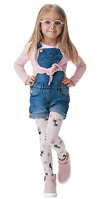 SISI Patterned Kids Tights White  2 - 8 Years Old by Knittex