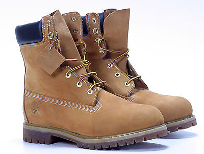 Mens New Authentic Timberland 8 Inch Boots Wheat 12281 Leather