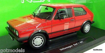 Nex 1/18 Scale 18039R VW Volkswagen Golf MK1 GTI Pirelli Red Diecast Model Car
