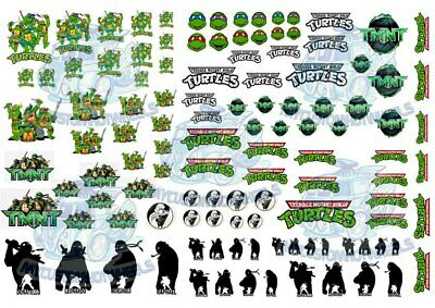 TMNT Teenage Mutant Ninja Turtles | Waterslide Decals for all scale Model Cars
