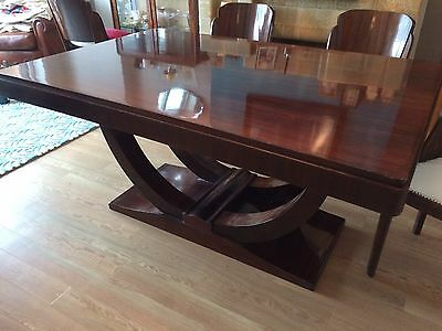 Art Deco Vintage 1930s French Rosewood Dining Table