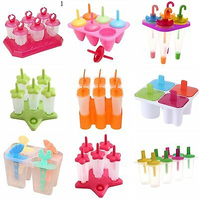 8/6/4 Cell Frozen Ice Cream Pop Mold Popsicle Maker Lolly Mould Tray Pan DIY