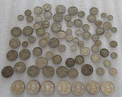 Mixed Lot of Australia Silver Coinage Different Denominations