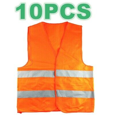 1 x Orange Safety Security Visibility Reflective Vest Construction Traffic