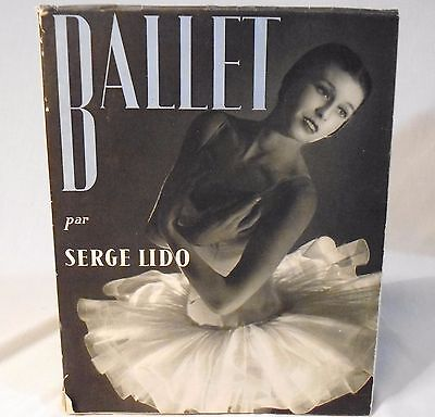 Ballet par Serge Lido Book 88 B/W Photographs 1951 in French Theater Ballerinas