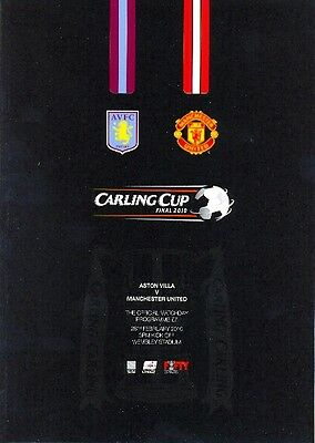 CARLING LEAGUE CUP FINAL 2010 ASTON VILLA v MAN UTD MINT PROGRAMME MANCHESTER