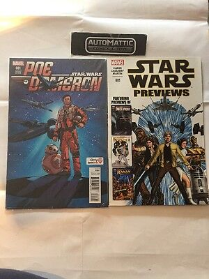 Poe Dameron 1 Gamestop Variant Cover Marvel Comic Star Wars USA Rare New Comics