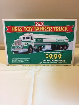 Hess Toy Tanker 1990 Advertising/ Marketing Double Sided