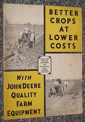 RARE John Deere 1934 Better Farming Tractor Equipment Full Line Dealer Catalog