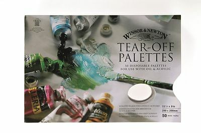 WInsor & Newton Tear Off Palette - 50 Sheets Small Or Large Pad Size