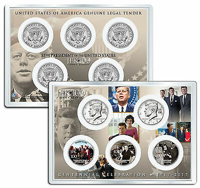 JOHN F. KENNEDY JFK100 Birthday 2017 JFK Half Dollar 5-Coin Set Assassination