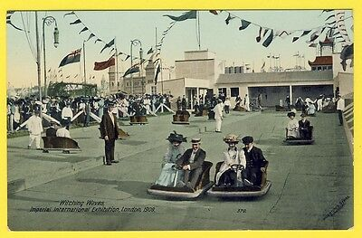 Beautiful cpa Rare UNITED KINGDOM LONDON Exhibition1909 LUNA PARK WITCHING WAVES