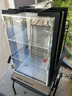 Under Armour Table Top Retail Display Heavy Duty 2 Shelves With Key Locks