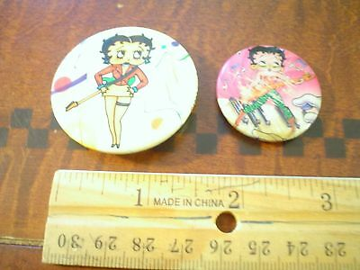 Betty Boop Buttons/pinbacks Lot Of (2) 1980 & 1981 Nm/mint Rocker