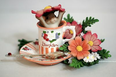 Charming Tails 89/257 Daughter Your Goodness Warms My Heart tea cup mouse floral