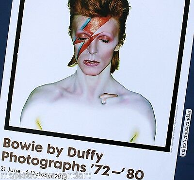 ORIGINAL DAVID BOWIE by DUFFY 2013 GALLERY POSTER FROM AMSTERDAM ZIGGY STARDUST
