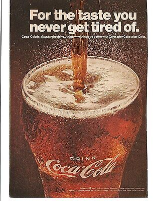 Vintage 1967 Magazine Print Ad Coca-Cola Coke Advertising Very Good  5X7 Soda