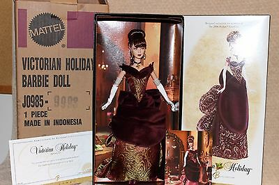 2006 Victorian Holiday Barbie Gold Label Fan Club MIB- With Shipper, COA & card