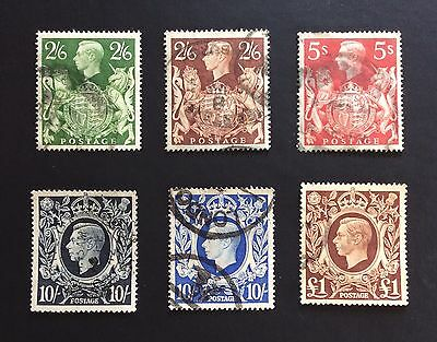 GB Complete Set Of 1939-48 George VI High Values SG476-478b(2/6-£1)