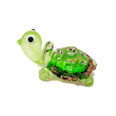 Turtle Hand Blown Blowing Glass Art Sea Animal Fancy Collectibles Gift Decor 2