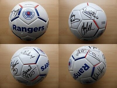 Official Rangers Multi Signed Legend Football & Card - Exact Proof (10564)