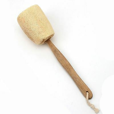 Wooden Long Handled Back Scrubber Body Bath Shower Exfoliating Loofah