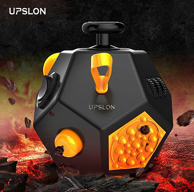 Fidget Cube 12 Function Magic Stress Anxiety Relief Toy Focus Kids Adults