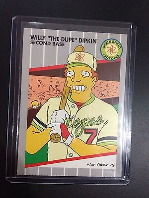 "1994 Simpsons: Series 2 PROMO CARD, WILLY ""THE DUPE"" DIPKIN SECOND BASE. B1."