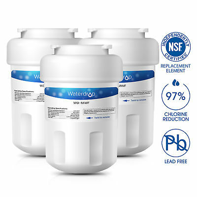 Fits GE MWF MWFP GWF SmartWater Comparable Water Filter 1/3/6 Pack by Waterdrop