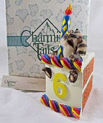 Charming Tails Figurine # 6 Reginald Birthday Cake