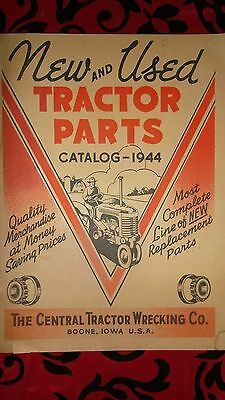 BOONE IOWA - Central Tractor Catalog 1944 - 64 Illustrated Pages