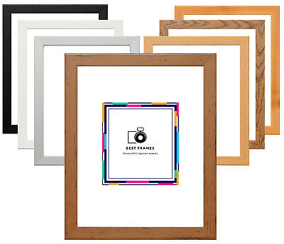 Flat Wood Effect Photo Frames Modern Picture Frame Panoramic Print Poster Frame