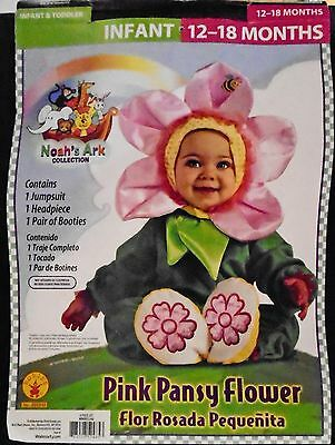 Infant Halloween Costume – Pink Pansy Flower - 4-Piece - Size 12-18 Months - Nip