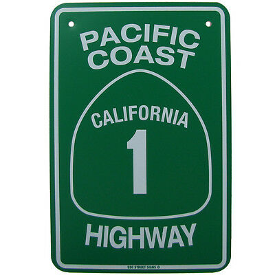 Metal PCH California Highway 1 US/CA Street Sign Bar/Pub/Garage/Shop Wall Decor